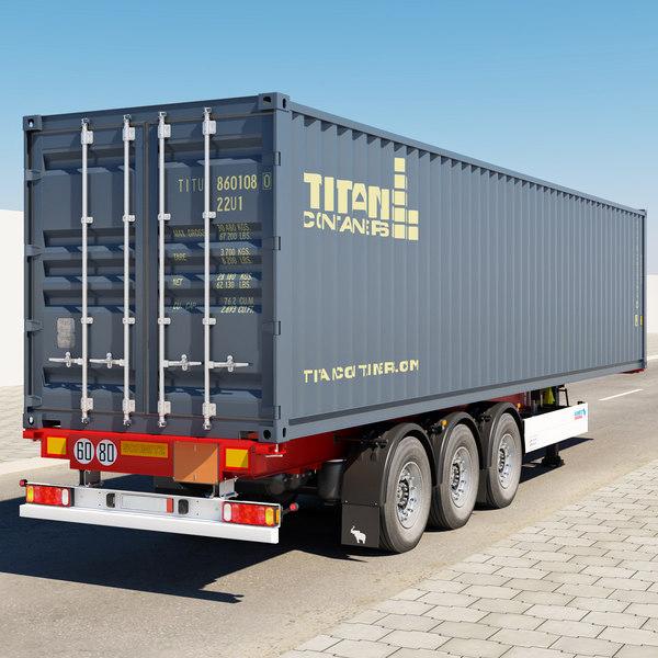 Transport kontejnera kamionom 20ft